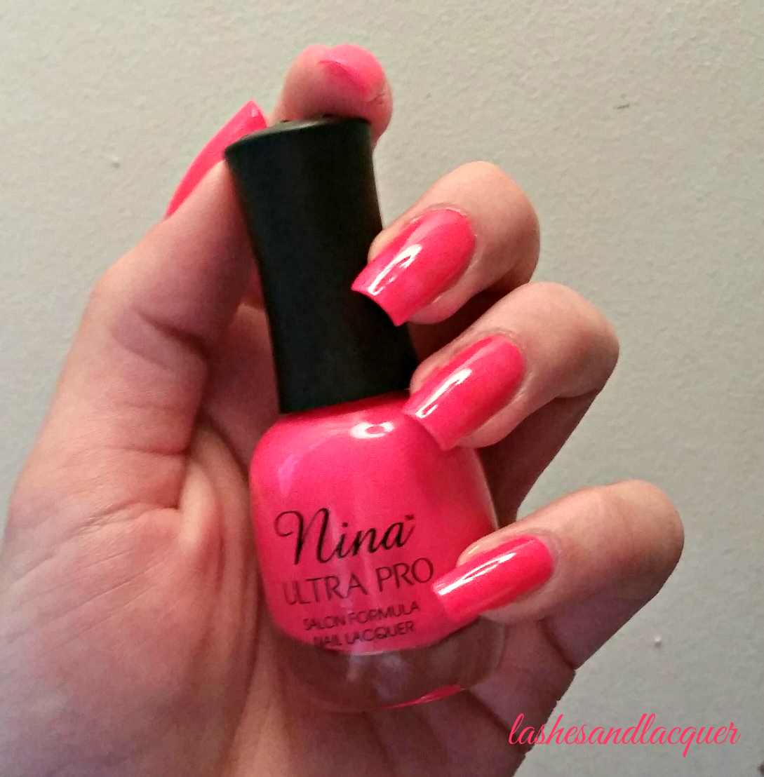 POLISH I LOVE: NINA ULTRA PRO \'PUNKI PINK\' | LASHES AND LACQUER